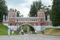 The gates tsaritsyno july russia moscow Stock Photos