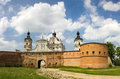 The gates and walls of the monastery catholic discalced carmelites in berdichev ukraine Royalty Free Stock Image