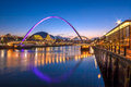 Gateshead Millennium Bridge and Newcastle Quayside Royalty Free Stock Photo
