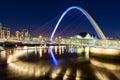 The Gateshead Millennium Bridge in Newcastle upon Tyne, England Royalty Free Stock Photo