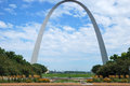 Gateway arch gateway to west centerpiece jefferson national expansion memorial st louis missouri Stock Photo