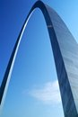 Gateway arch in st louis missouri Royalty Free Stock Photo