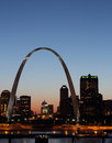 Gateway Arch in ST. Louis night view Royalty Free Stock Photo