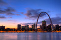 Gateway Arch at Sunset Royalty Free Stock Photo