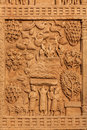 Gateway decoration great stupa sanchi madhya pradesh india bas relief of ancient buddhist monument Stock Photo
