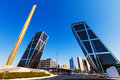 Gateway of europe at plaza de castilla in madrid spain august kio towers or on september spain Stock Photography