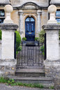 Gateway and Garden Path of an English Town House Royalty Free Stock Photo