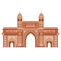 Gateway of india easy to edit vector illustration in floral design Royalty Free Stock Images