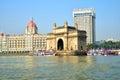 Gateway of India, Mumbai with Taj Hotel at the background Royalty Free Stock Photo