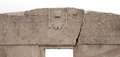 The gateway of the sun tiwanaku bolivia famous landmark gate in pre columbian civilization closeup with images condors chasqui Stock Images