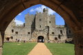 Gateway to bodiam castle the courtyard of medieval britain Royalty Free Stock Images