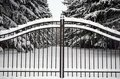 Gateway Into Winter Royalty Free Stock Photography