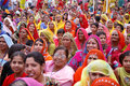 Gathering of brahmin woman Stock Photo