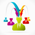 Gathering information abstract avatar vector illustration about Royalty Free Stock Images