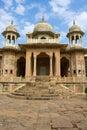 Gatore ki chhatriyan jaipur rajasthan india memorial grounds to maharaja sawai mansingh ii and family constructed of marble Stock Photo