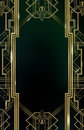 Gatsby Art Deco Background Gold Royalty Free Stock Photo