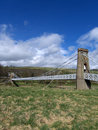 Gattonside Suspension Bridge, Melrose, Scotland Stock Image