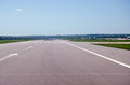 Gatwick airport runway view looking straight down the only currently at london s in sussex the s management would like to Stock Photos