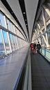 GATWICK AIRPORT,UK - 01 DEC 2016 - Tourists arrived at Gatwick A