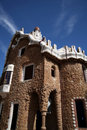 Gaudi House in Parc Guell Stock Photo