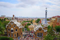 Gaudi houses at park guell Stock Image