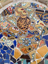 Gaudi Mosaic Tiles - Barcelona, Royalty Free Stock Photos