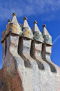Gaudi rooftop Royalty Free Stock Photo