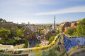 Gaudi s parc guell in barcelona spain may view of is a public park designed by antoni Royalty Free Stock Photo