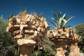 Gaudi s park guell in barcelona catalonia spain Royalty Free Stock Photography