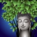 Gautama Buddha meditating under the Bodhi tree