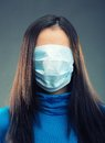 Gauze bandage over all face of women Stock Images