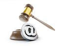 Gavel email spam 3d Illustrations Stock Image