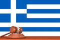 Gavel with Flag Of Greece Stock Photos