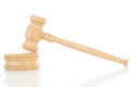 Gavel made of oak wood Royalty Free Stock Photo