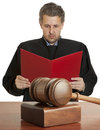 Gavel & male judge Royalty Free Stock Photos
