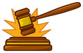 Gavel Striking Loud Stock Photo