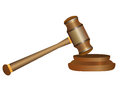 Gavel on white background Stock Images