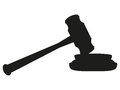 Gavel on white background Royalty Free Stock Image