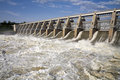 Gavins point dam tailwaters tail waters below on the missouri river in south dakota spring flooding in has caused the u s army Royalty Free Stock Photo