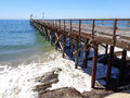 Gaviota Pier and Boat Launch 2 Royalty Free Stock Photo