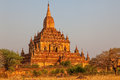 Gawdawpalin temple at sunset old bagan myanmar Stock Photo