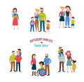 gay family, different kind of families, special needs children Royalty Free Stock Photo