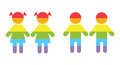 Gay family LGBT rights raibow icons white