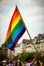 Gay flag Paris Royalty Free Stock Photography