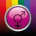 Gay icon Royalty Free Stock Photo