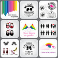 Gay & Lesbian Icon and Design Element Royalty Free Stock Photo