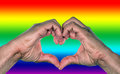 Gay marriage equality concept for or homosexual love Royalty Free Stock Images