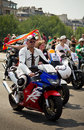 Gay men on motocycles during Gay Pride Stock Image