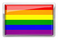 Gay pride design icon isolated Royalty Free Stock Image