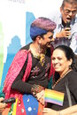 Gay pride march in mumbai lgbt india it is illegal india to have any sexual relationship except natural penoveginal under section Royalty Free Stock Photography